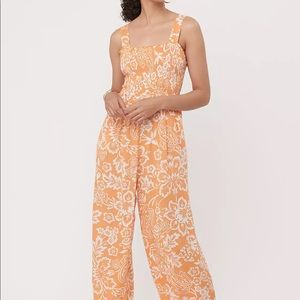 NWT Garden Smocked Strappy Jumpsuit
